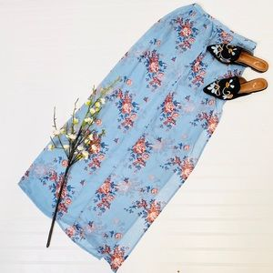 Love @ First Sight Floral Sheer Skirt